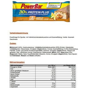 PowerBar ProteinPlus 30% Bar Box 15x55g Caramel Vanilla Crisp